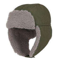 Winter hunting hat, camouflage olive