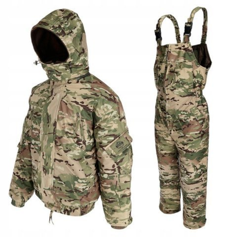 Children's winter set CAMO/MULTICAM, jacket + MEMBRANE dungarees