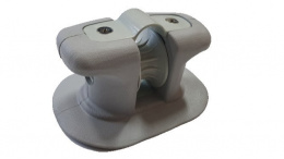 Anchor roller, rope joint with cable for pontoon or boat